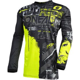 O'Neal Element Maillot de cyclisme Homme, ride-black/neon yellow